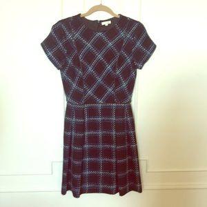 Shoshanna Short Sleeve Plaid Dress